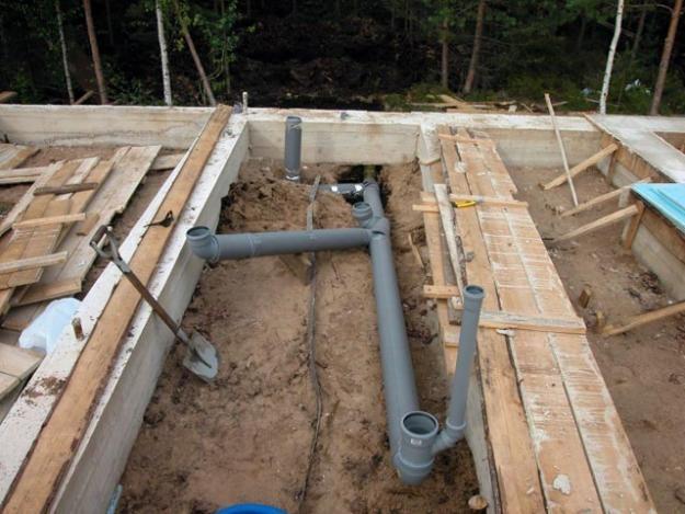 Разводка канализации в частном доме