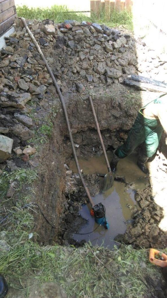 высокий уровнь залегания грунтовых вод